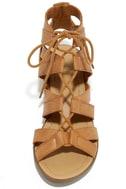 Arielle Tan Lace-Up Sandals 5