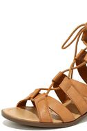 Arielle Tan Lace-Up Sandals 6