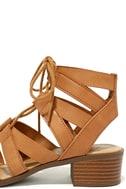 Arielle Tan Lace-Up Sandals 7