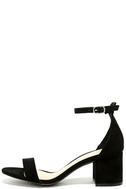 Harper Black Suede Ankle Strap Heels 2