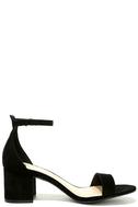 Harper Black Suede Ankle Strap Heels 4