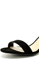 Harper Black Suede Ankle Strap Heels 6
