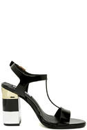 Eloise Black High Heel Sandals 4