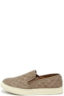 Steve Madden Ecentrcq Grey Quilted Slip-On Sneakers 1