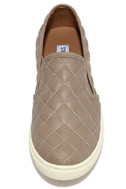 Steve Madden Ecentrcq Grey Quilted Slip-On Sneakers 5