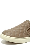 Steve Madden Ecentrcq Grey Quilted Slip-On Sneakers 6