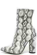 Mamba Grey Snake Print Mid-Calf Boots 2