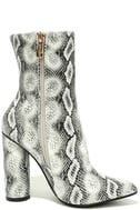 Mamba Grey Snake Print Mid-Calf Boots 4