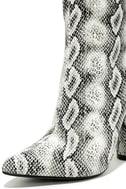 Mamba Grey Snake Print Mid-Calf Boots 6