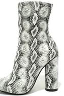 Mamba Grey Snake Print Mid-Calf Boots 7