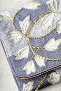 Foliage of Decadence Grey Embroidered Clutch 3