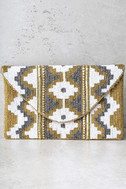 Treasured Possession Gold Beaded Clutch 2