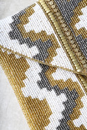 Treasured Possession Gold Beaded Clutch 4