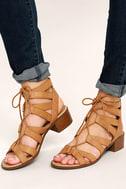 Arielle Tan Lace-Up Sandals 2