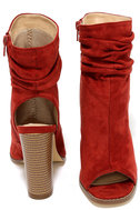 Only the Latest Cinnamon Suede Peep-Toe Booties 3