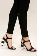Eloise Black High Heel Sandals 1
