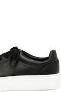 Madden Girl Kitten Black Flatform Sneakers 7