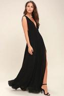 Heavenly Hues Black Maxi Dress 2