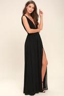 Heavenly Hues Black Maxi Dress 3