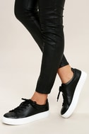 Madden Girl Kitten Black Flatform Sneakers 2