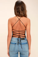 Yvonne Black Lace-Up Bodysuit 5