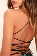 Yvonne Black Lace-Up Bodysuit 6