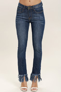 Enter the Fray Medium Wash Distressed Skinny Jeans 3