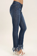 Enter the Fray Medium Wash Distressed Skinny Jeans 4