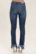 Enter the Fray Medium Wash Distressed Skinny Jeans 5