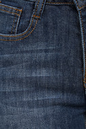 Enter the Fray Medium Wash Distressed Skinny Jeans 7