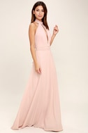 First Comes Love Blush Pink Maxi Dress 2