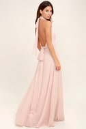 First Comes Love Blush Pink Maxi Dress 3