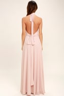 First Comes Love Blush Pink Maxi Dress 4