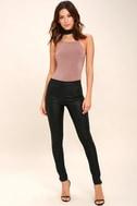 Yvonne Mauve Lace-Up Bodysuit 2