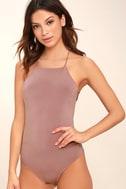 Yvonne Mauve Lace-Up Bodysuit 3