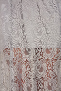 Evening Dreaming Light Grey Lace Maxi Dress 6