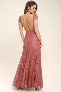 Evening Dreaming Rusty Rose Lace Maxi Dress 4