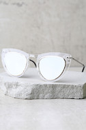 Spitfire Outward Urge Gold and Clear Mirrored Sunglasses 2
