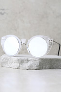 Spitfire Super Symmetry Silver and Clear Mirrored Sunglasses 2