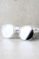 Spitfire Super Symmetry Silver and Clear Mirrored Sunglasses 3
