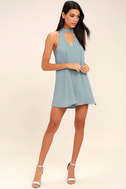 Groove Thing Slate Blue Swing Dress 2