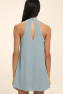 Groove Thing Slate Blue Swing Dress 4