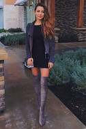 Ready For Anything Charcoal Grey Suede Moto Jacket 7