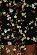 Whimsy Daisy Black Embroidered Maxi Dress 6