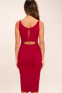 Chart Topper Berry Pink Bodycon Dress 4