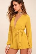 Outspoken Golden Yellow Long Sleeve Romper 3