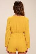 Outspoken Golden Yellow Long Sleeve Romper 4