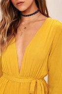 Outspoken Golden Yellow Long Sleeve Romper 5