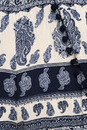 Beauty in the Details Navy Blue Print Shorts 6