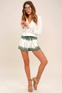 Let's Explore Sage Green Tie-Dye Shorts 3